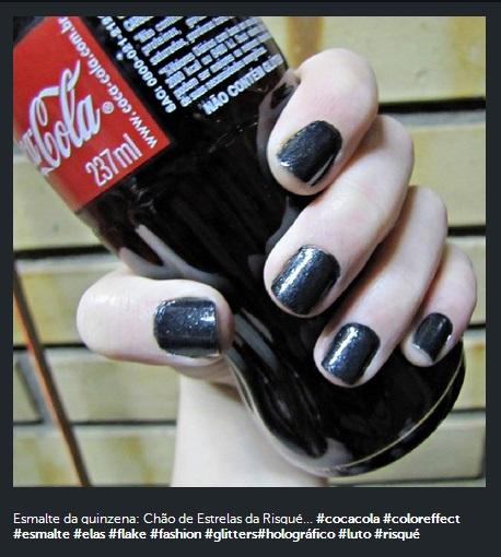 Instagram - Esmalte da Semana + Coca Cola