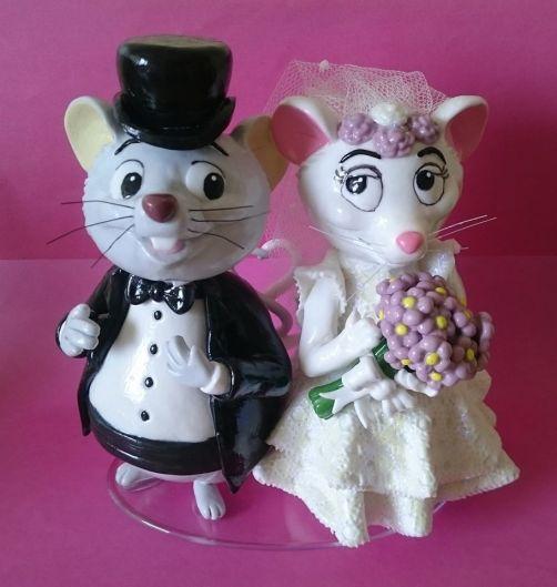Bernardo & Bianca (noivinhos de biscuit)