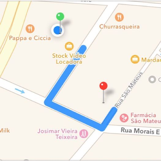 primeira caminhada (maps)